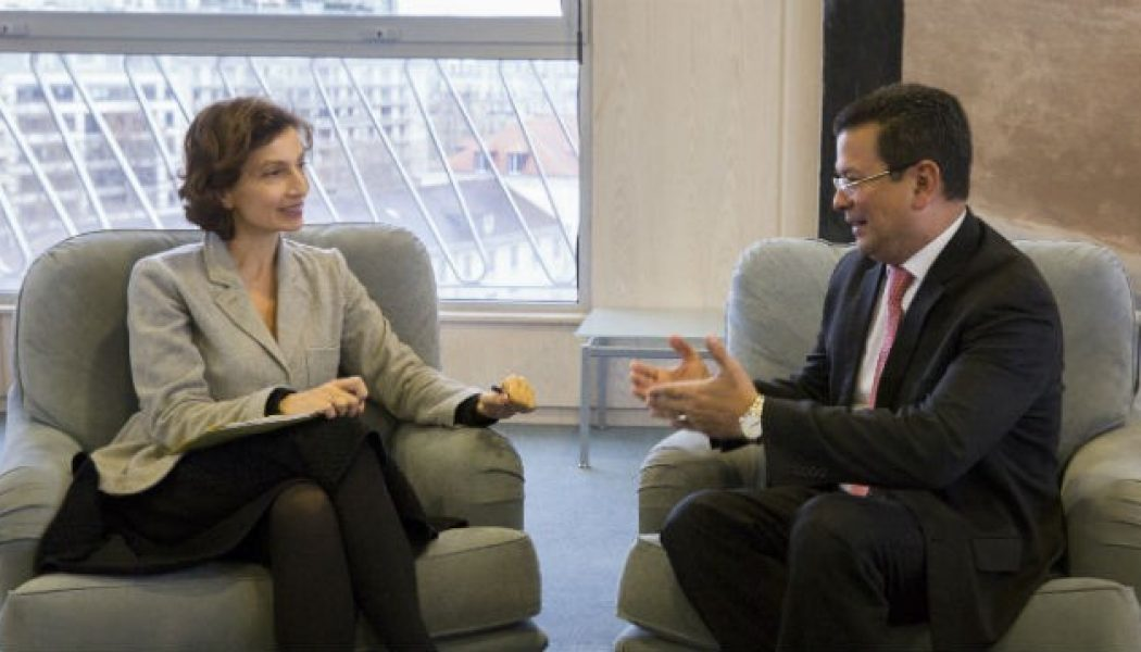 Director-General Meets Minister Of Foreign Affairs Of El Salvador